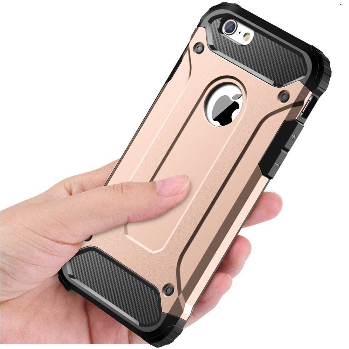 Hybrid-Armor-Shockproof-Rugged-Bumper-Case-For-Apple-iPhone-10-X-8-7-Plus-6s-5s miniature 37