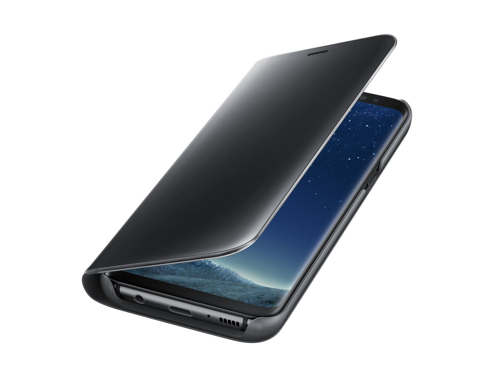 New-Samsung-Galaxy-S8-S9-S10-Smart-View-Mirror-Leather-Flip-Stand-Case-Cover thumbnail 17
