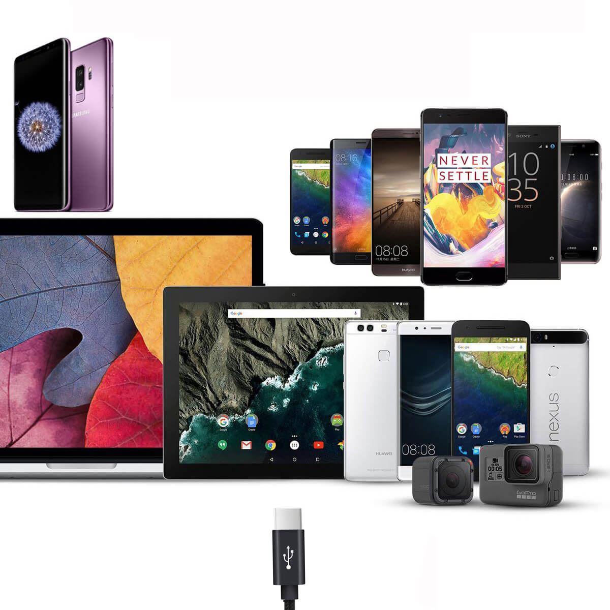 Type-C-USB-C-Sync-Fast-Charger-Charging-Cable-Samsung-Galaxy-S10-S9-S8-Plus-Lite thumbnail 10