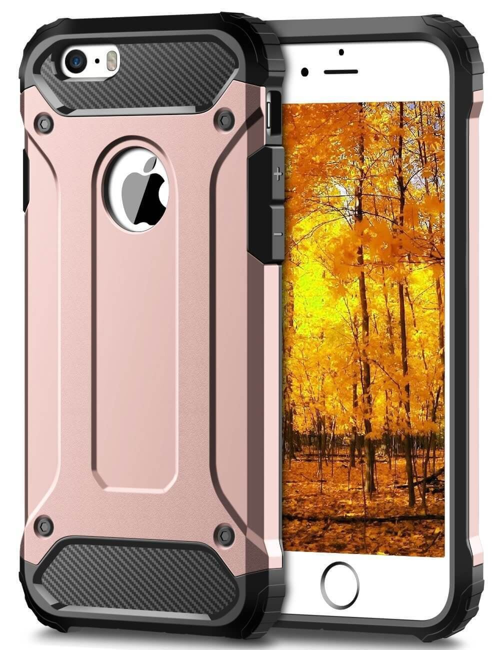 Hybrid-Armor-Shockproof-Rugged-Bumper-Case-For-Apple-iPhone-10-X-8-7-Plus-6s-5s miniature 39