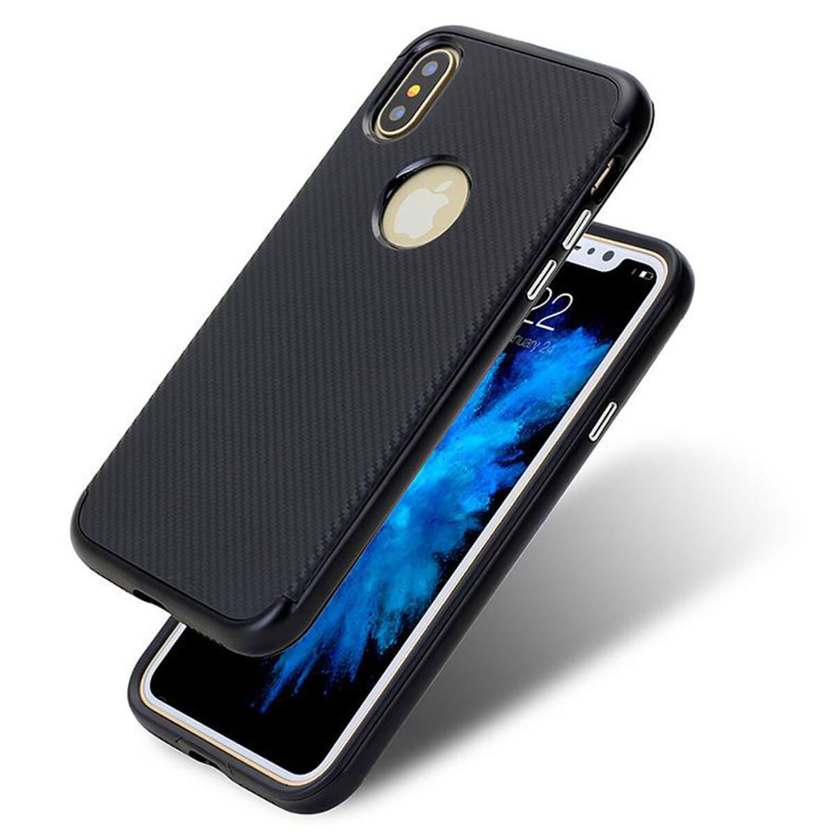 Case-For-Apple-iPhone-10-X-8-7-6s-5s-Luxury-Carbon-Fibre-Bumper-Hard-Back-Cover thumbnail 8
