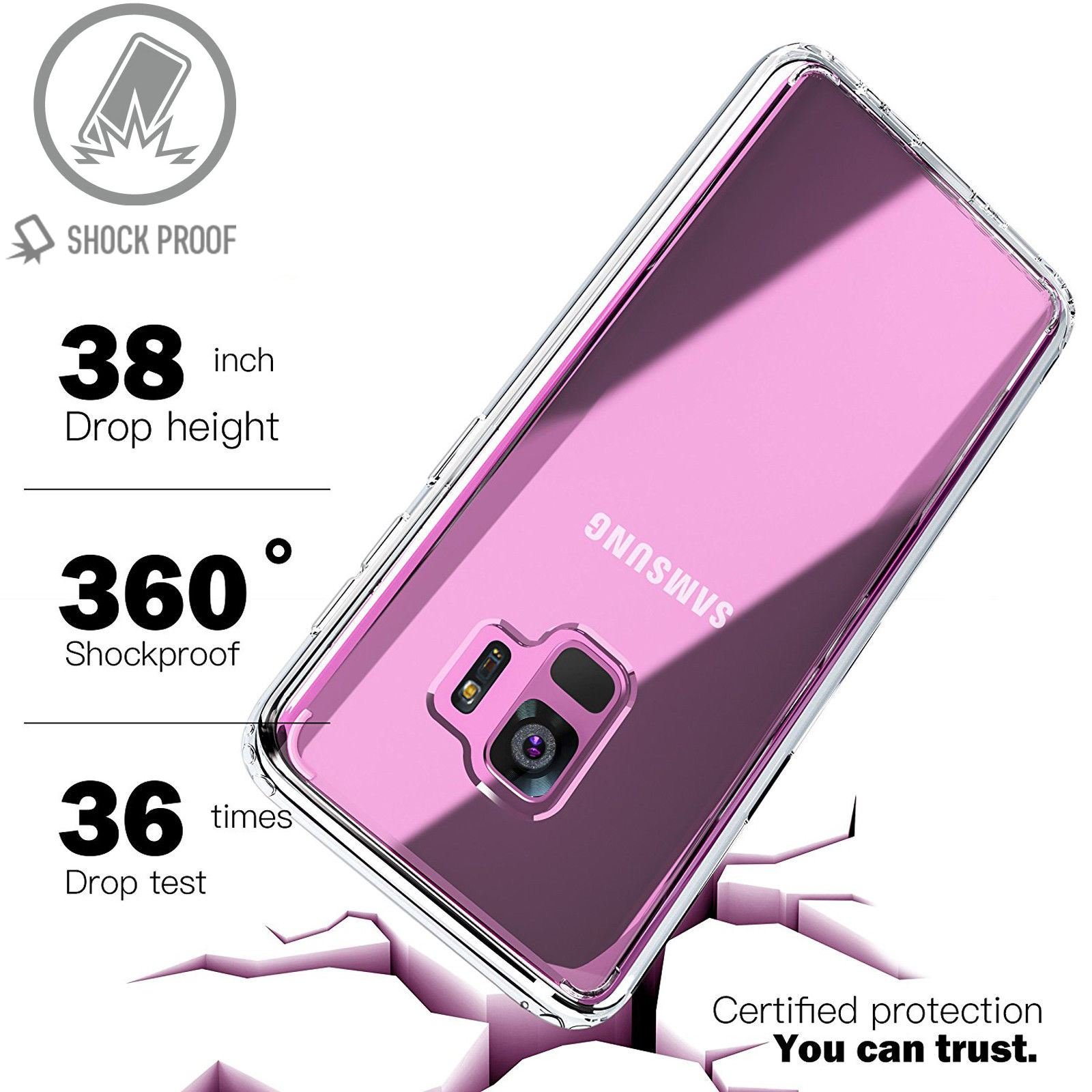 For-Samsung-Galaxy-S7-S8-S9-Case-Shockproof-Silicone-Protective-Clear-Gel-Cover thumbnail 49