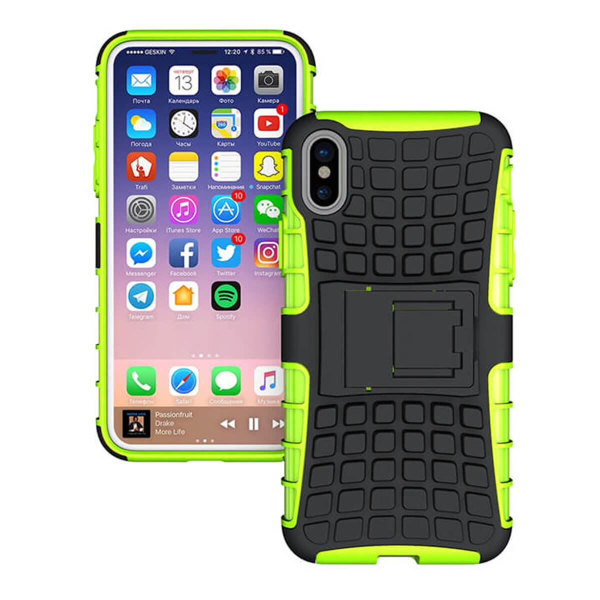 Shockproof-Case-Apple-iPhone-10-X-8-7-6s-Se-5-Hard-Heavy-Duty-Stand-Armour-Cover thumbnail 9