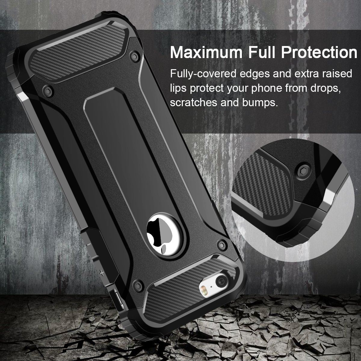 Hybrid-Armor-Shockproof-Rugged-Bumper-Case-For-Apple-iPhone-10-X-8-7-Plus-6s-5s miniature 24