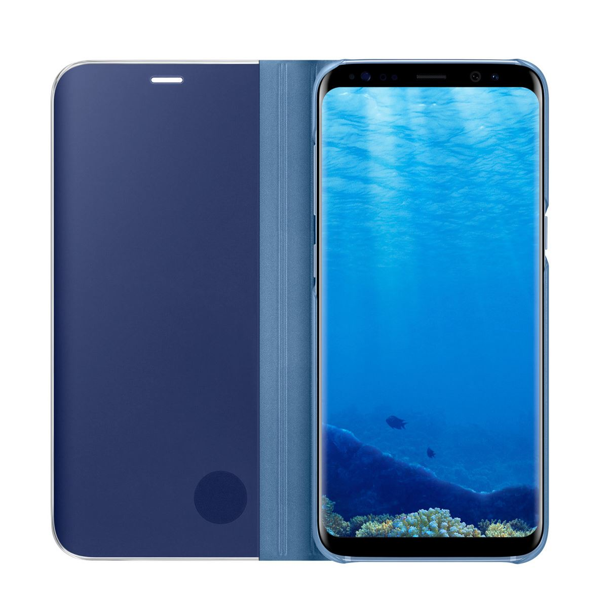 New-Samsung-Galaxy-S8-S9-S10-Smart-View-Mirror-Leather-Flip-Stand-Case-Cover thumbnail 32
