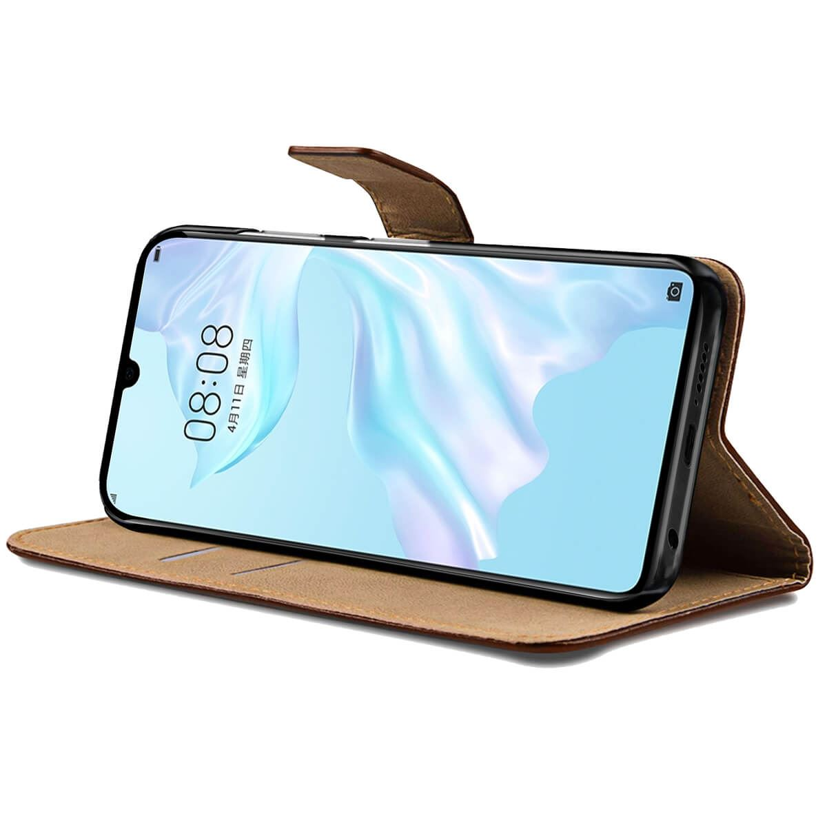 Flip-Cover-For-Huawei-P30-Lite-Pro-Leather-Wallet-Style-With-Magnetic-Closure thumbnail 6
