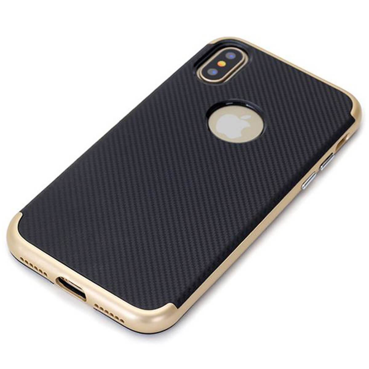 Case-For-Apple-iPhone-10-X-8-7-6s-5s-Luxury-Carbon-Fibre-Bumper-Hard-Back-Cover thumbnail 3