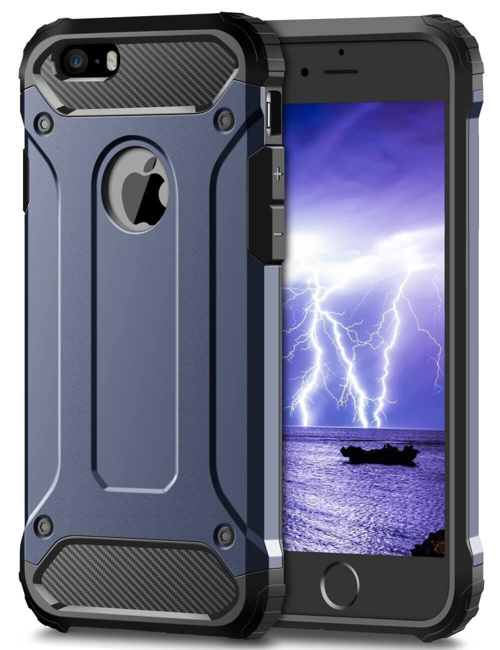 Hybrid-Armor-Shockproof-Rugged-Bumper-Case-For-Apple-iPhone-10-X-8-7-Plus-6s-5s miniature 65
