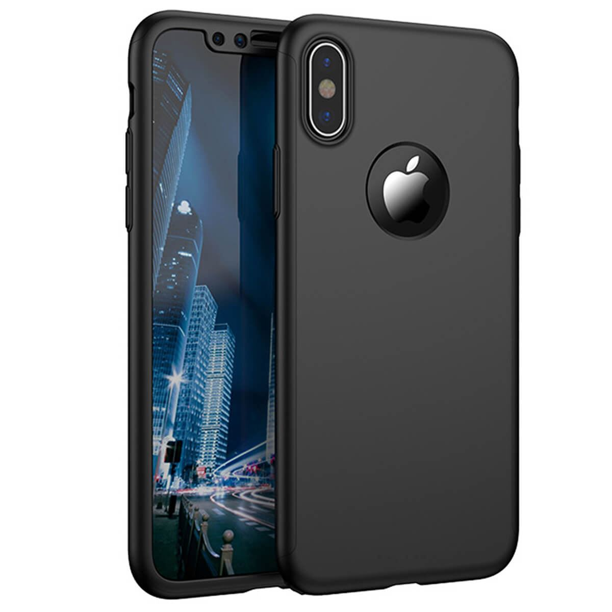 Tempered-Glass-Cover-For-Apple-iPhone-10-X-8-7-6s-5-Hybrid-360-Shockproof-Case thumbnail 5