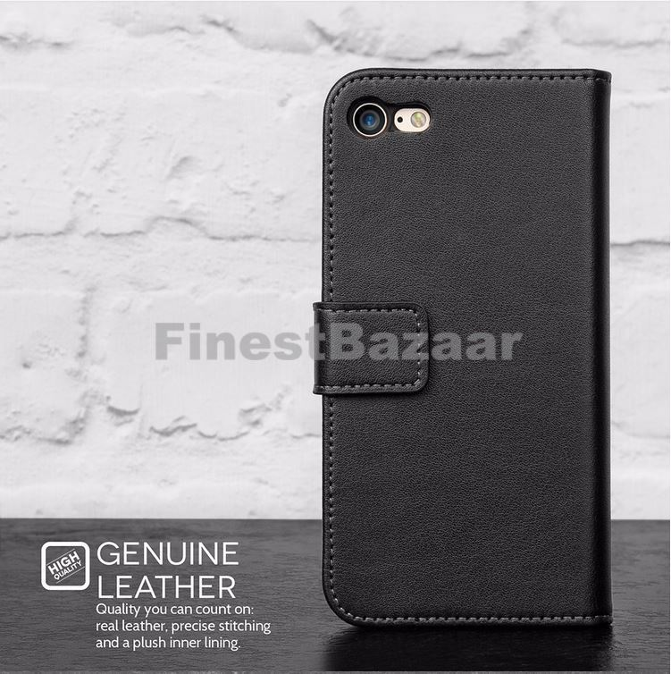Genuine-Leather-Magnetic-Flip-Wallet-Case-Cover-For-Apple-iPhone-8-7-Plus-6S-5S thumbnail 34