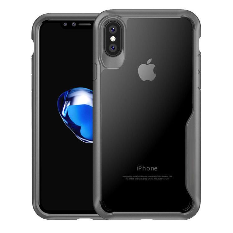 Shockproof-Clear-Thin-Hard-Bumper-TPU-Case-Cover-For-Apple-iPhone-X-8-7-Plus-6s miniatuur 21
