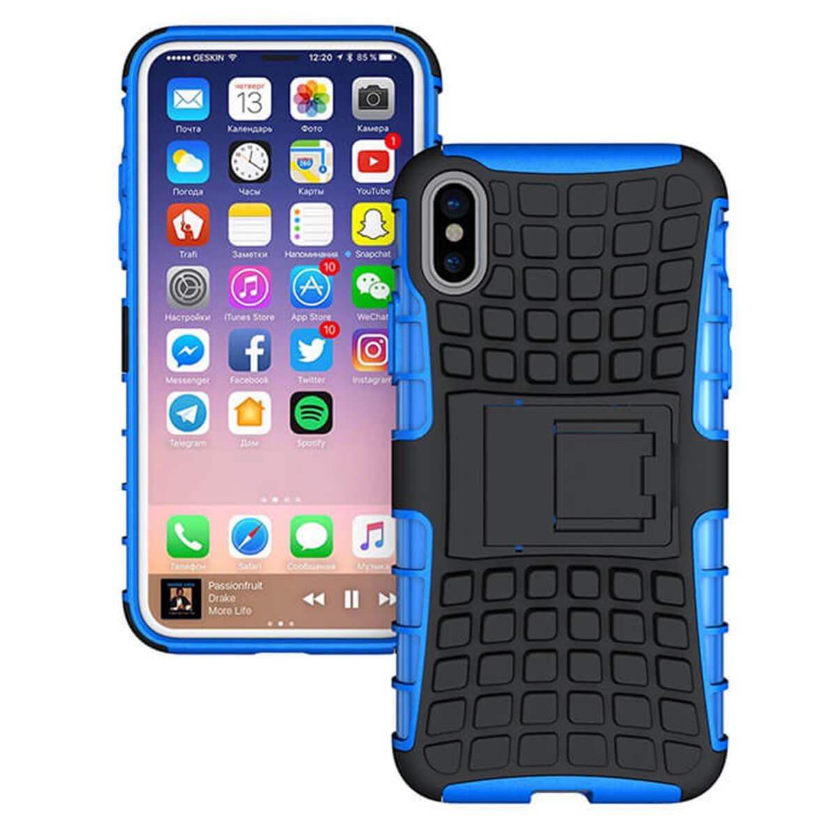 Shockproof-Case-Apple-iPhone-10-X-8-7-6s-Se-5-Hard-Heavy-Duty-Stand-Armour-Cover thumbnail 7