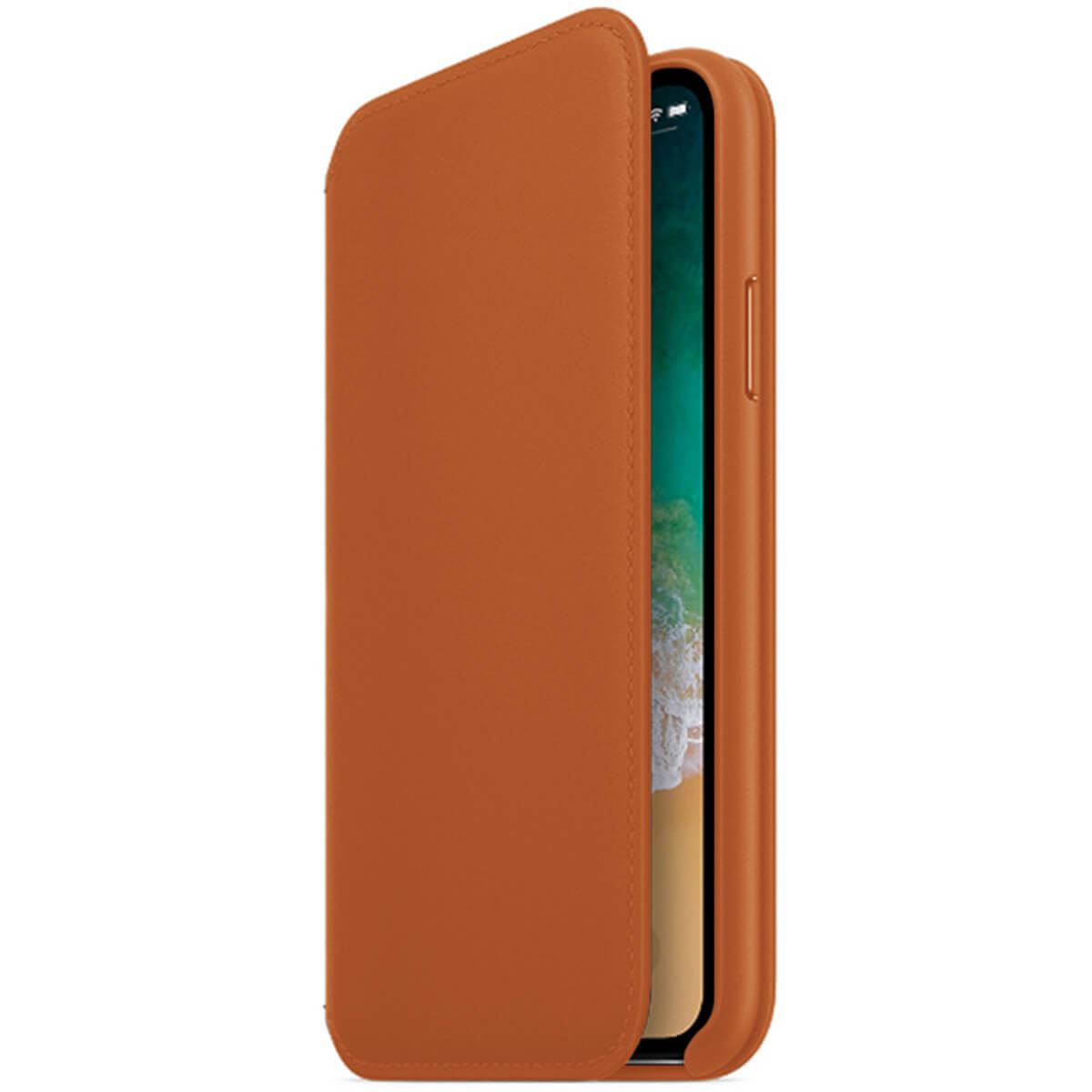 Genuine-Leather-Folio-Flip-Wallet-Case-Cover-For-Apple-iPhone-X-8-7-6S-6-Plus thumbnail 21