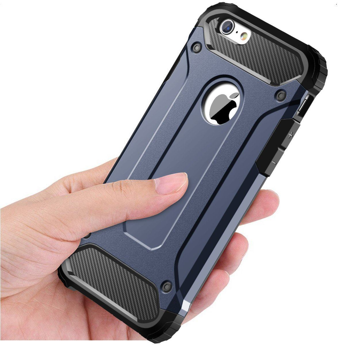 Hybrid-Armor-Shockproof-Rugged-Bumper-Case-For-Apple-iPhone-10-X-8-7-Plus-6s-5s miniature 63