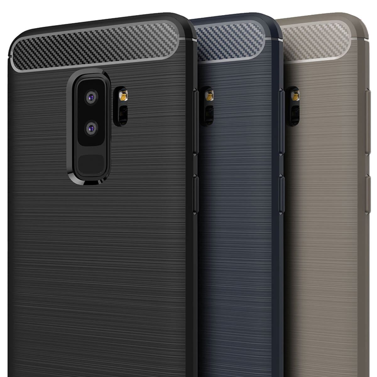 ShockProof-Rugged-Carbon-Case-For-Samsung-Galaxy-S9-amp-S9-Plus-Luxury-TPU-Cover thumbnail 4