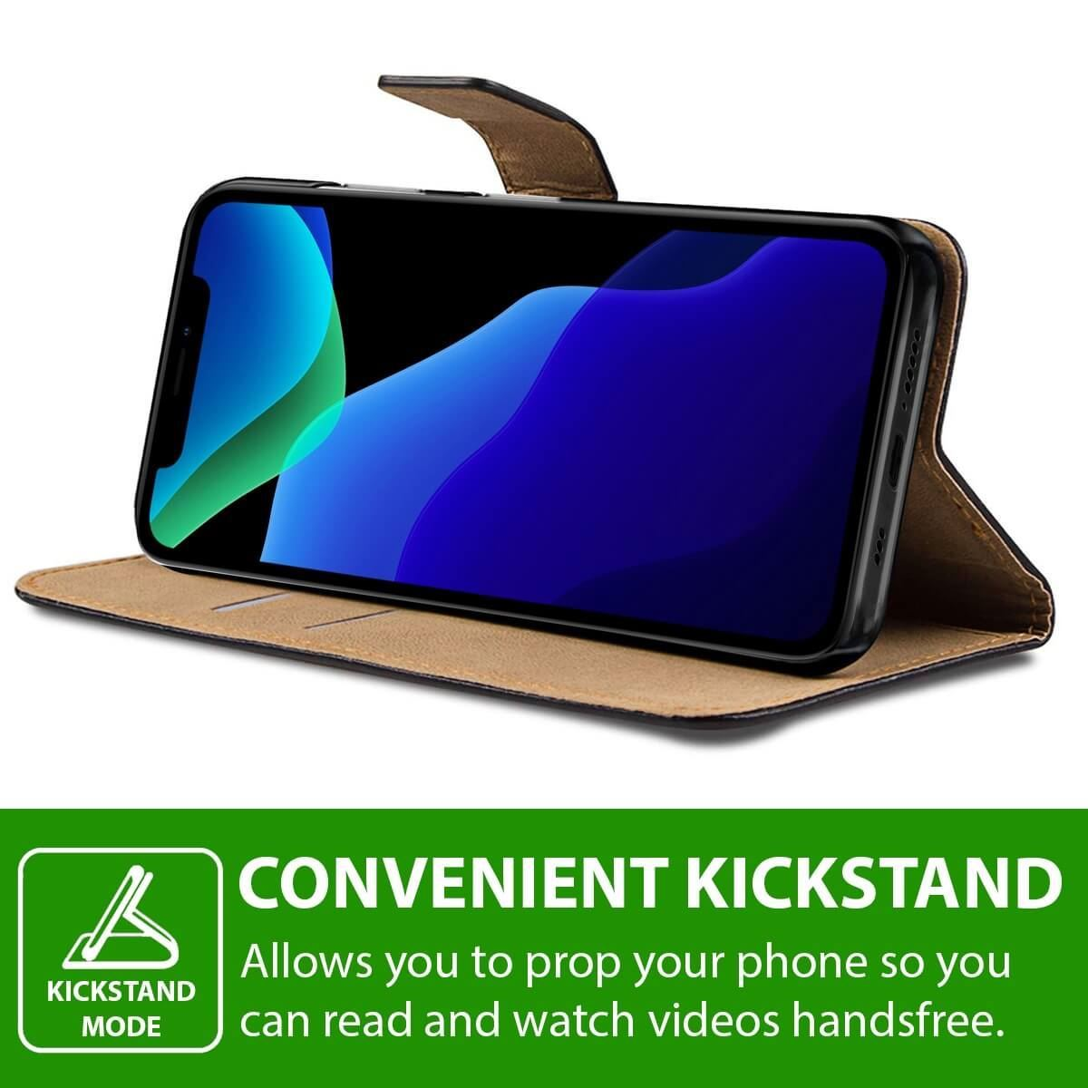 thumbnail 32 - For Apple iPhone 12 11 XR XS Max Leather Flip Wallet Magnetic Stand Card Case