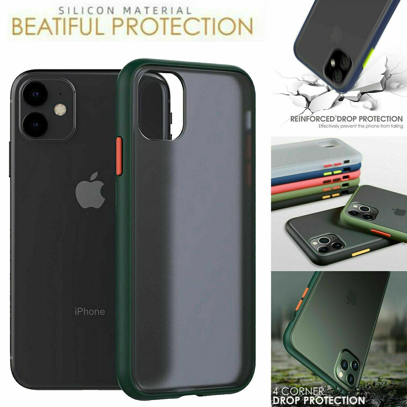 thumbnail 22 - Bumper Anti-Fall Case For Apple 11 X 8 7 6 Se Ultra Thin TPU & PC Cover