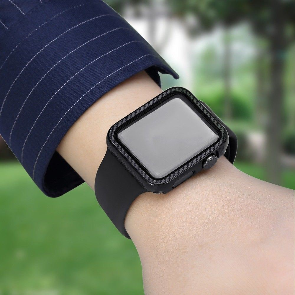 Protective-Carbon-Case-For-Apple-Watch-Black thumbnail 5