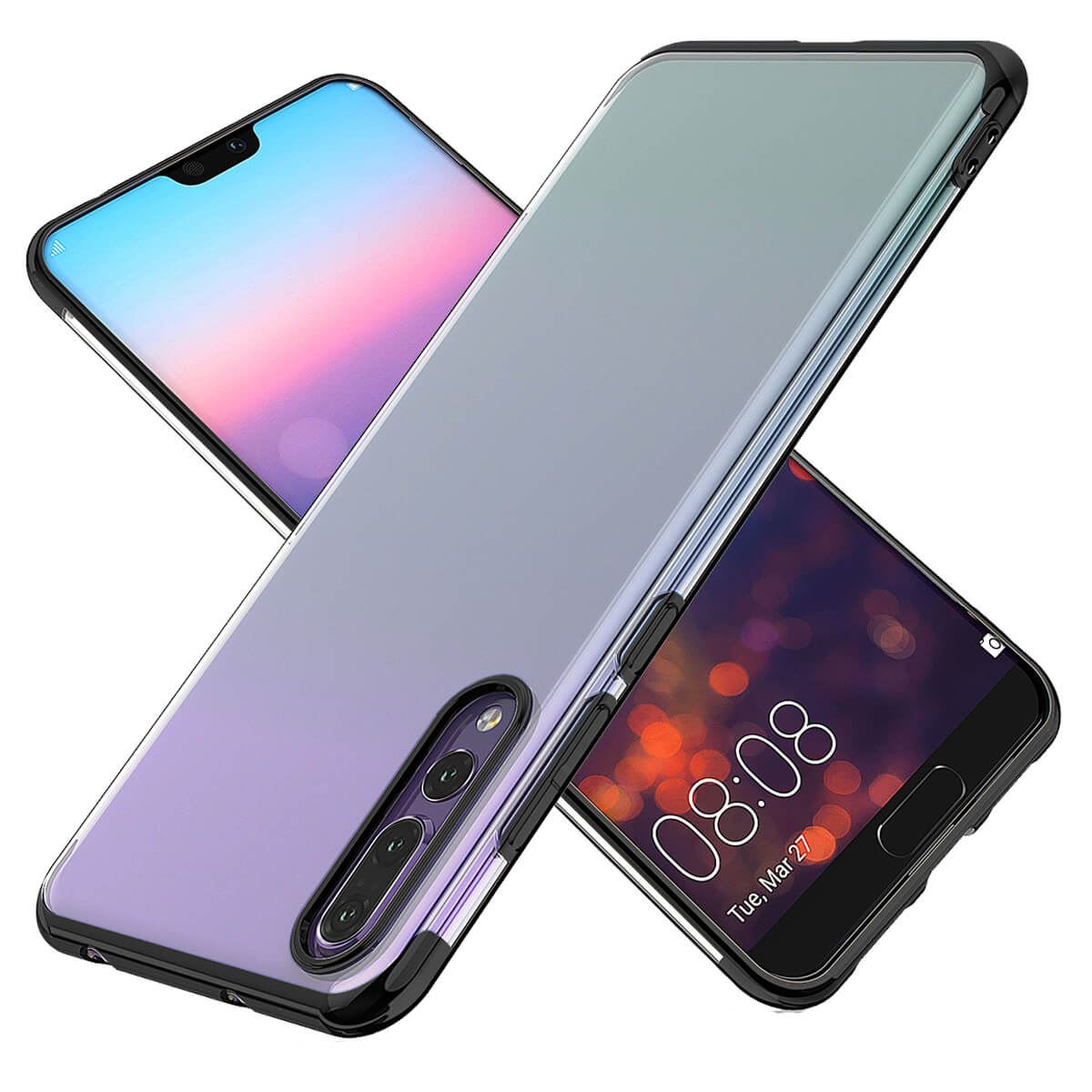 Case-For-Huawei-P20-Pro-P-Smart-Stylish-Hybrid-Shockproof-Plating-Silicone-Cover thumbnail 6