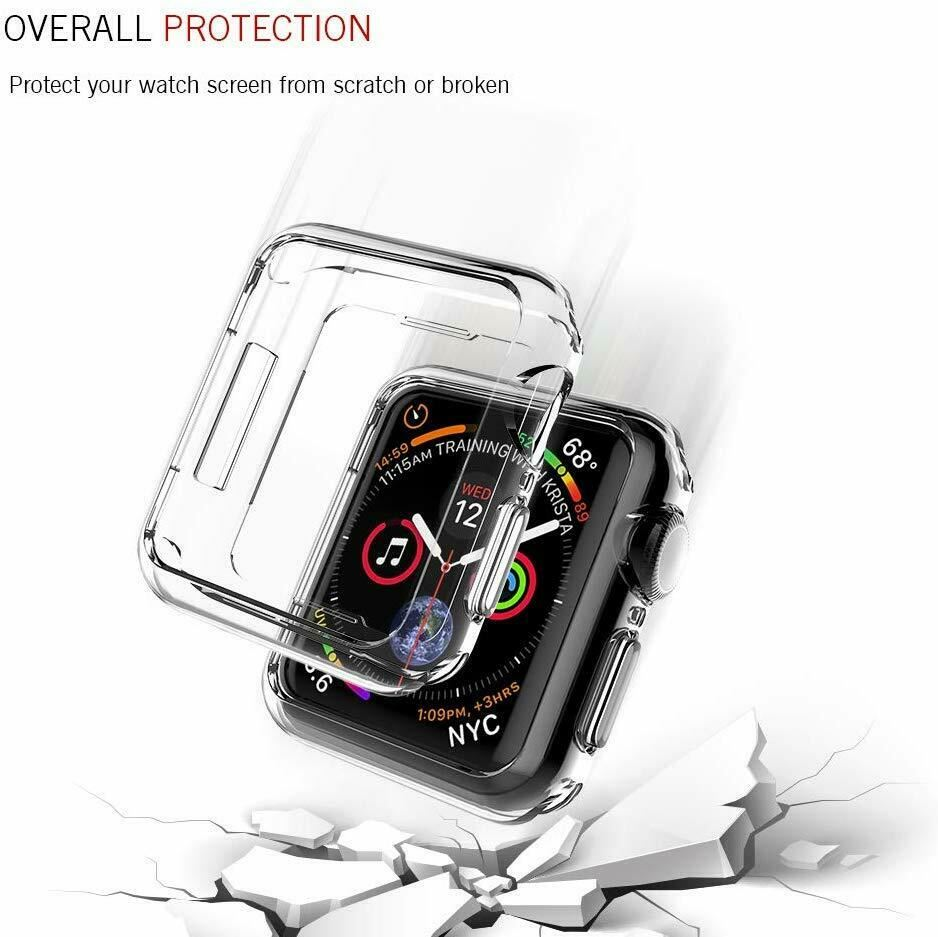 TPU-Gel-Case-For-Apple-Watch-Responsive-Touch-Full-Screen-Curved-Edge-Protective thumbnail 35