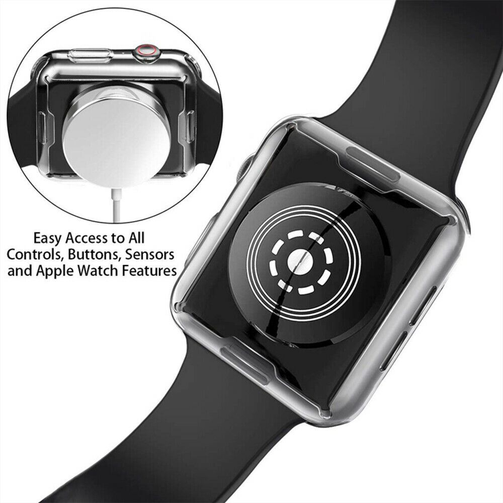 TPU-Gel-Case-For-Apple-Watch-Responsive-Touch-Full-Screen-Curved-Edge-Protective thumbnail 45