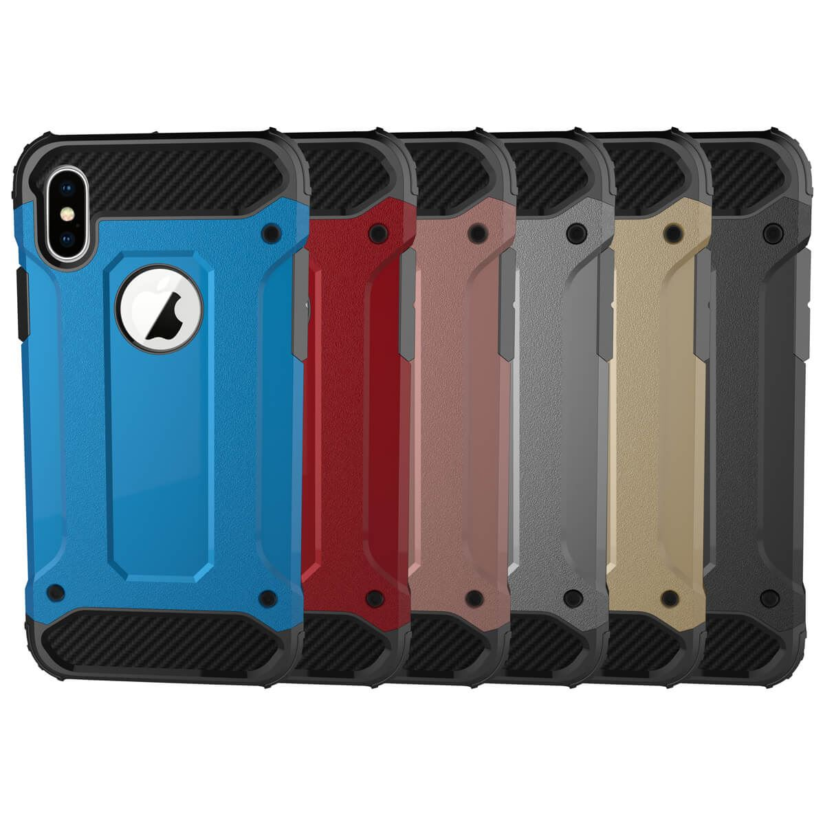 Shockproof-Bumper-Case-For-Apple-iPhone-10-X-8-7-Plus-6s-5s-Hybrid-Armor-Rugged thumbnail 4