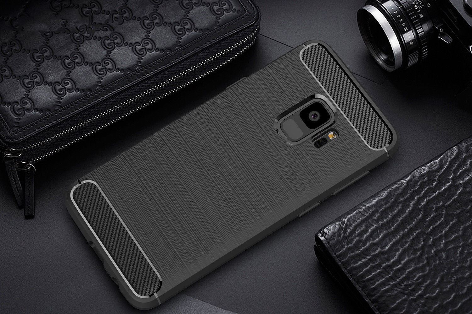 Antichoc-Luxury-TPU-Rugged-en-carbone-CASE-COVER-FOR-SAMSUNG-GALAXY-s9-amp-s9-plus miniature 27