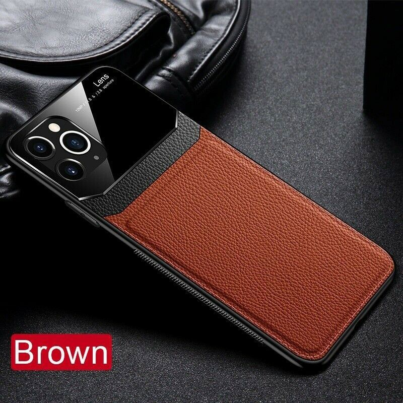 Leather-Back-Cover-Case-For-Apple-iPhone-11-X-8-7-6-Se-Protective-Lens-amp-Screen thumbnail 19