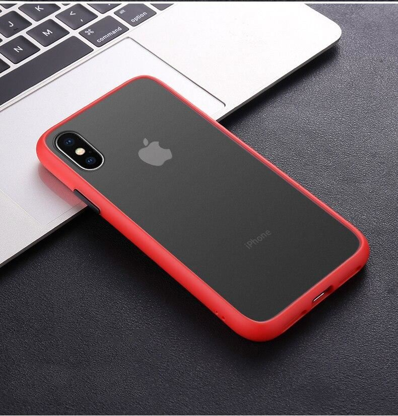 thumbnail 34 - Bumper Anti-Fall Case For Apple 11 X 8 7 6 Se Ultra Thin TPU & PC Cover