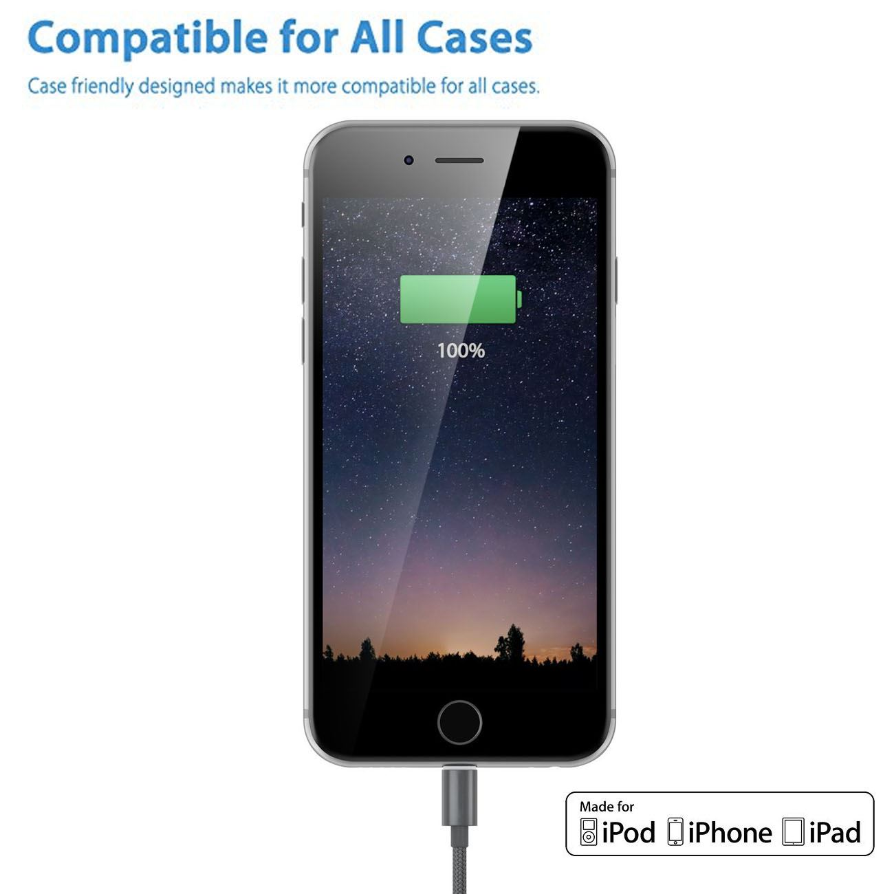 1M-2M-3M-Heavy-Duty-Braided-Lightning-Charger-Cable-For-iPhone-5-6-7-8-X-iPad thumbnail 56