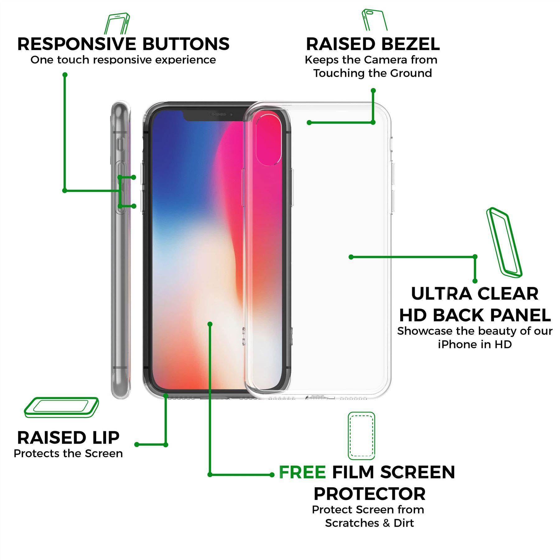 thumbnail 15 - For Apple iPhone XR Xs Max X 8 7 Plus 6 5 Se Case Cover Clear Transparent CS283