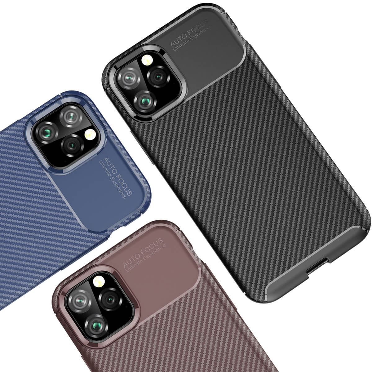 Carbon-Fibre-Soft-Case-For-iPhone-11-X-XR-Max-8-7-6-Plus-Slim-TPU-Silicone-Cover thumbnail 10