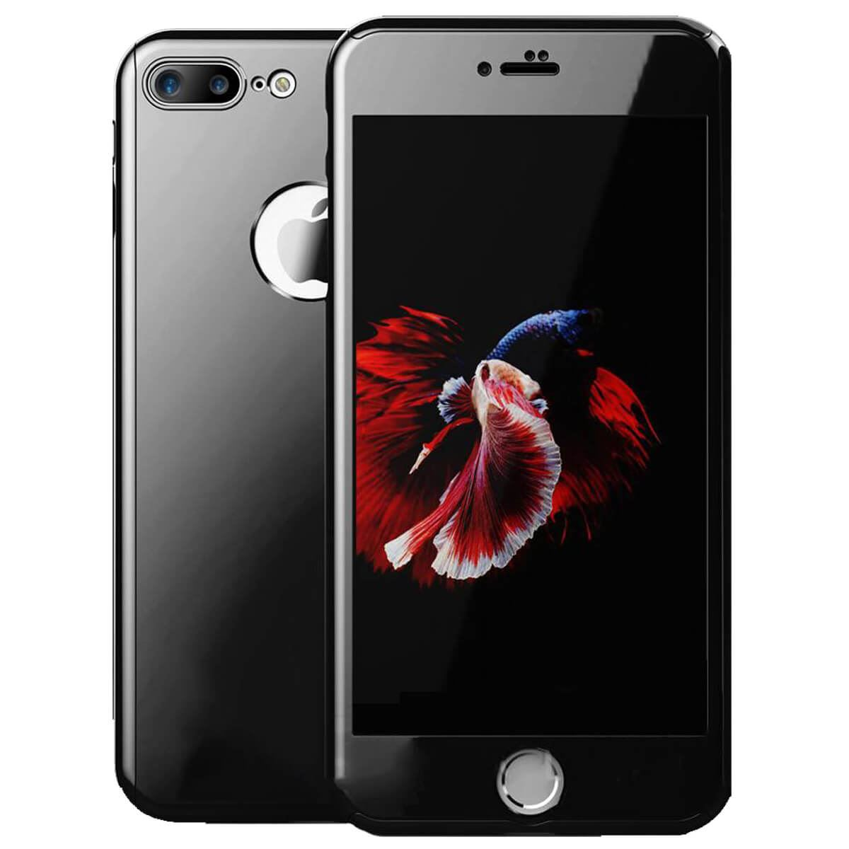 Tempered-Glass-Cover-For-iPhone-X-8-7-Plus-6s-5-Mirror-Hybrid-360-Hard-Thin-Case thumbnail 7