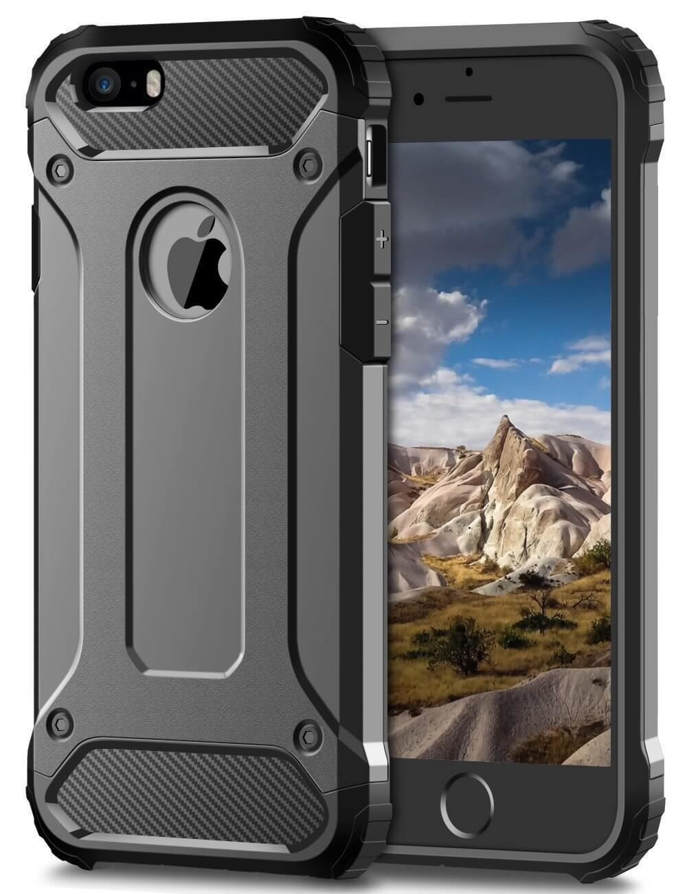 Hybrid-Armor-Shockproof-Rugged-Bumper-Case-For-Apple-iPhone-10-X-8-7-Plus-6s-5s miniature 21