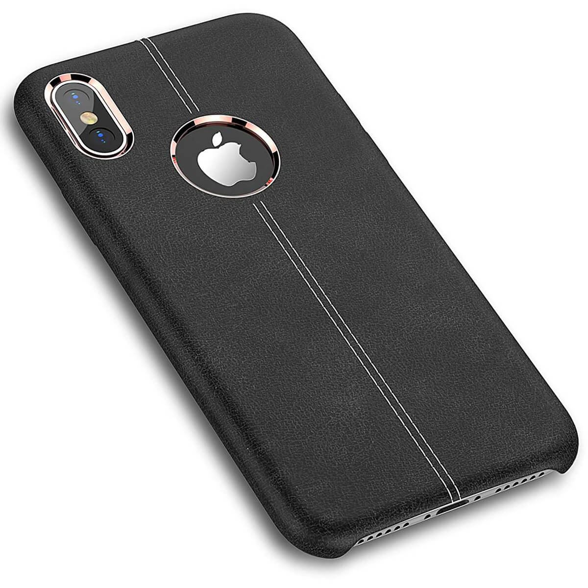Rugged-Thin-Case-Skin-For-Apple-iPhone-10-X-8-7-Plus-6s-Genuine-Leather-Cover thumbnail 5