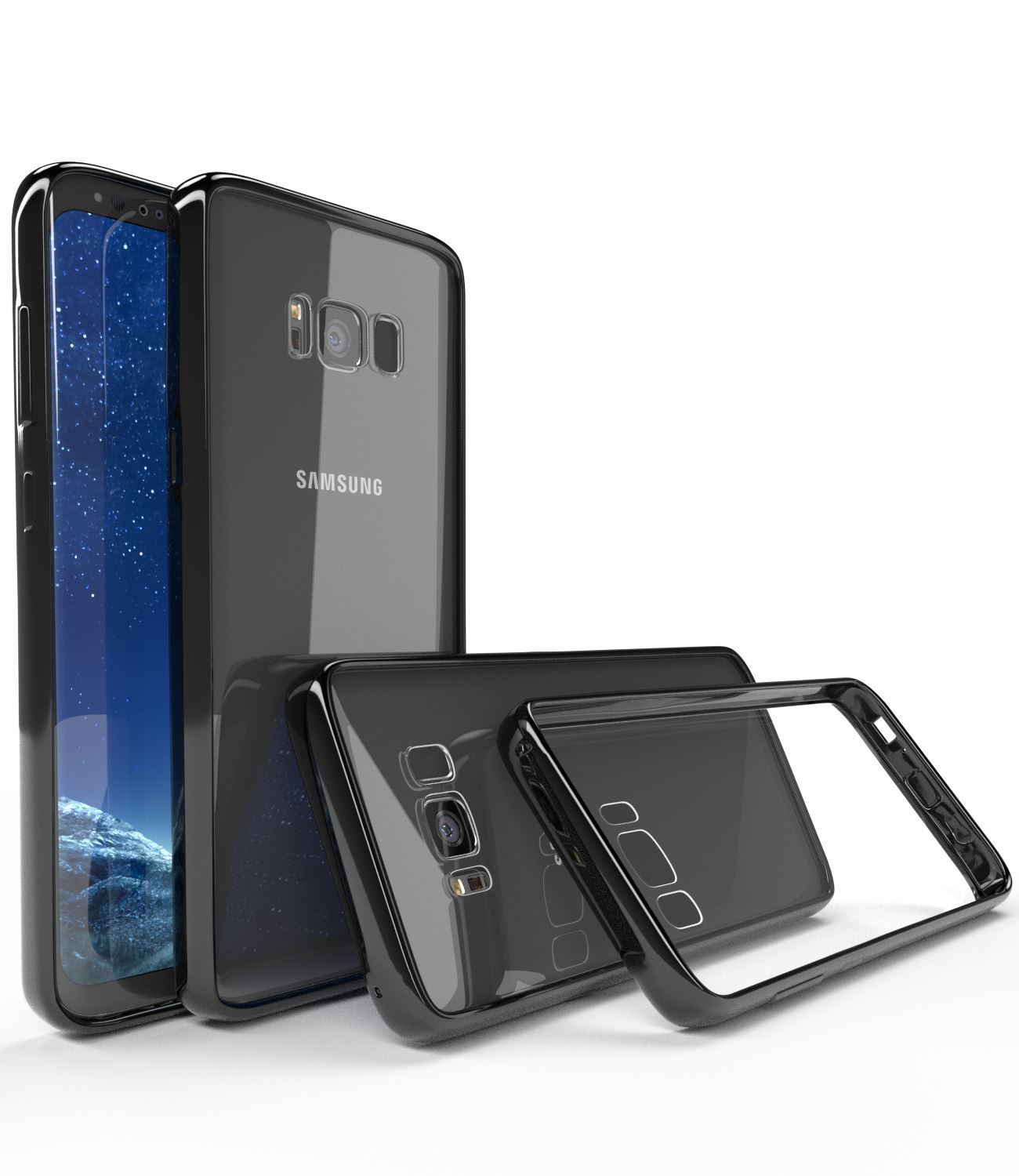 Samsung-Galaxy-S8-S9-Note-8-Shockproof-TPU-Bumper-Gel-Crystal-Clear-Case-Cover 縮圖 23