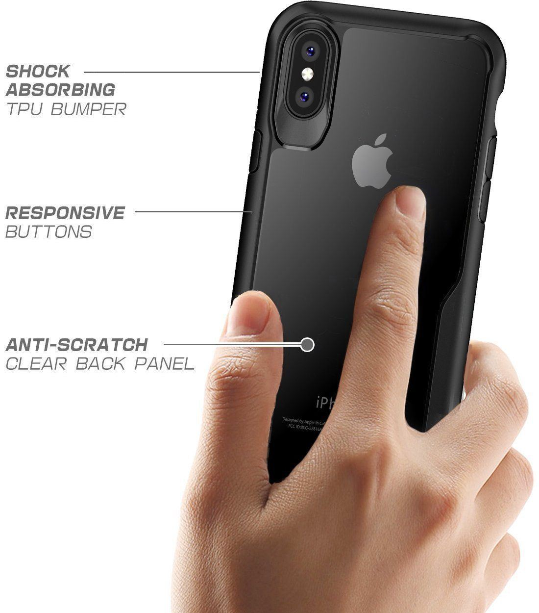 Shockproof-Clear-Thin-Hard-Bumper-TPU-Case-Cover-For-Apple-iPhone-X-8-7-Plus-6s miniatuur 24