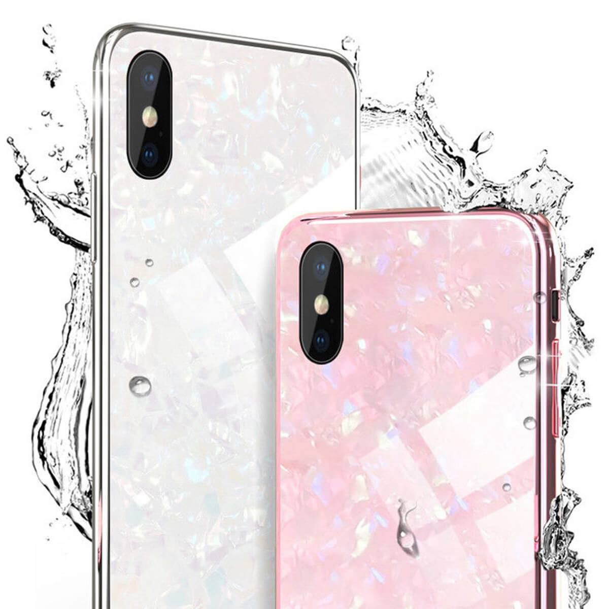 Marble-Tempered-Glass-Case-For-Apple-iPhone-X-XS-XR-Max-10-8-7-6s-6-Luxury-Cover thumbnail 4
