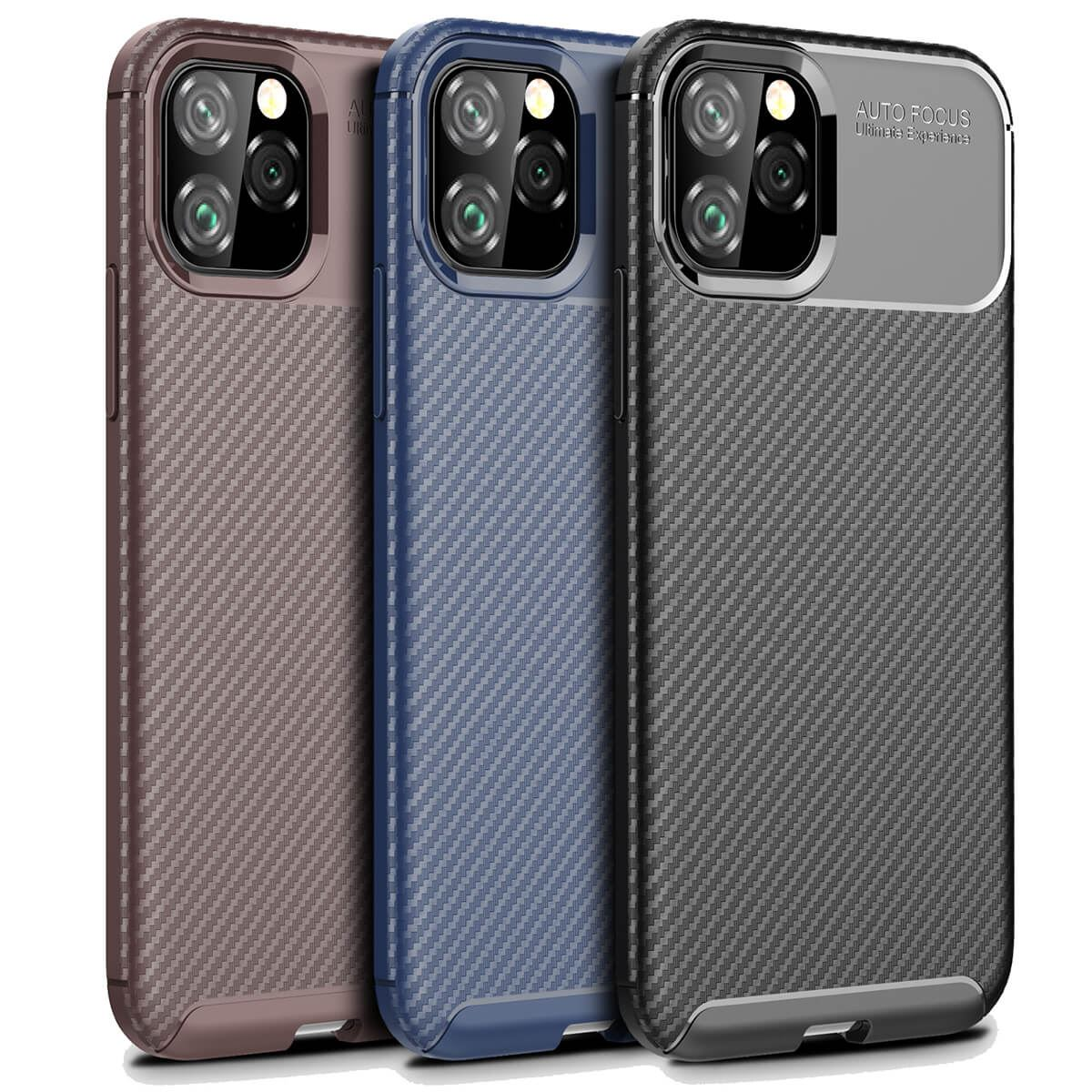 Carbon-Fibre-Soft-Case-For-iPhone-11-X-XR-Max-8-7-6-Plus-Slim-TPU-Silicone-Cover thumbnail 11