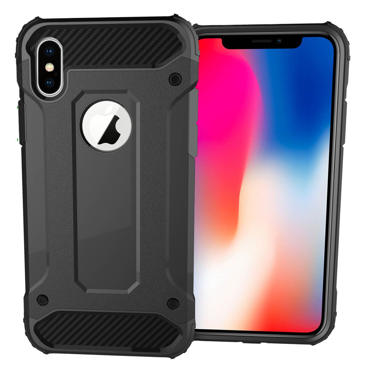 Shockproof-Bumper-Case-For-Apple-iPhone-10-X-8-7-Plus-6s-5s-Hybrid-Armor-Rugged thumbnail 3