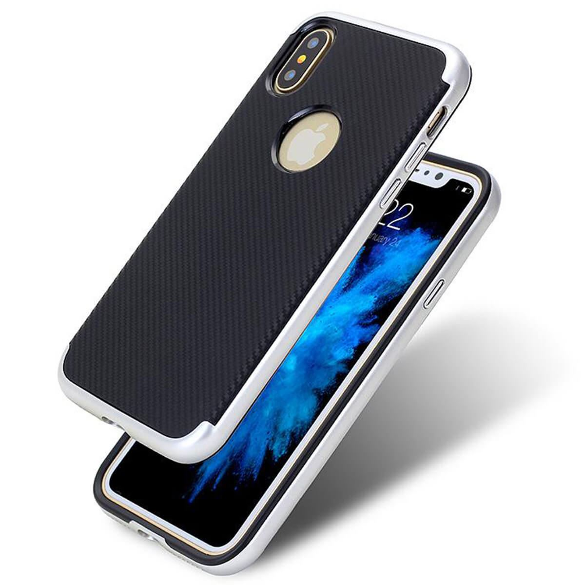 Case-For-Apple-iPhone-10-X-8-7-6s-5s-Luxury-Carbon-Fibre-Bumper-Hard-Back-Cover thumbnail 13