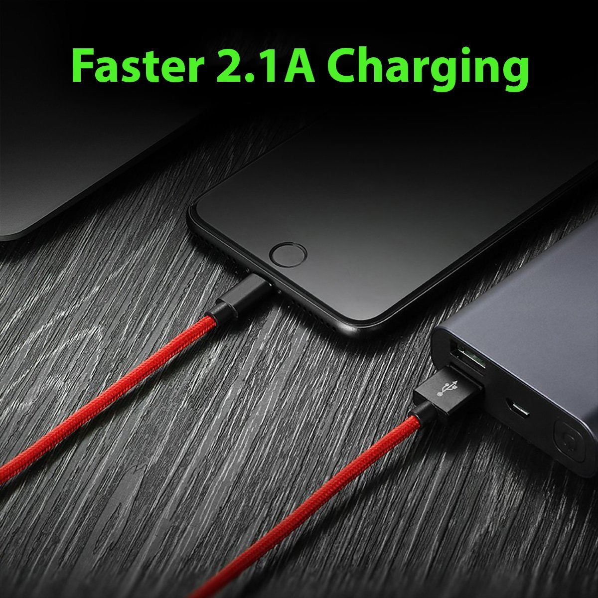 1M-2M-3M-Heavy-Duty-Braided-Lightning-Charger-Cable-For-iPhone-5-6-7-8-X-iPad thumbnail 19