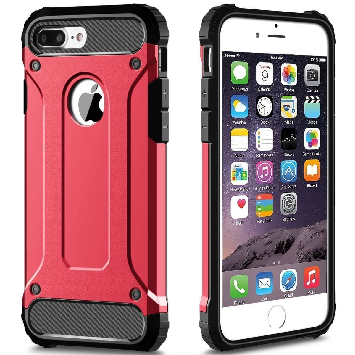 Hybrid-Armor-Shockproof-Rugged-Bumper-Case-For-Apple-iPhone-10-X-8-7-Plus-6s-5s miniature 47