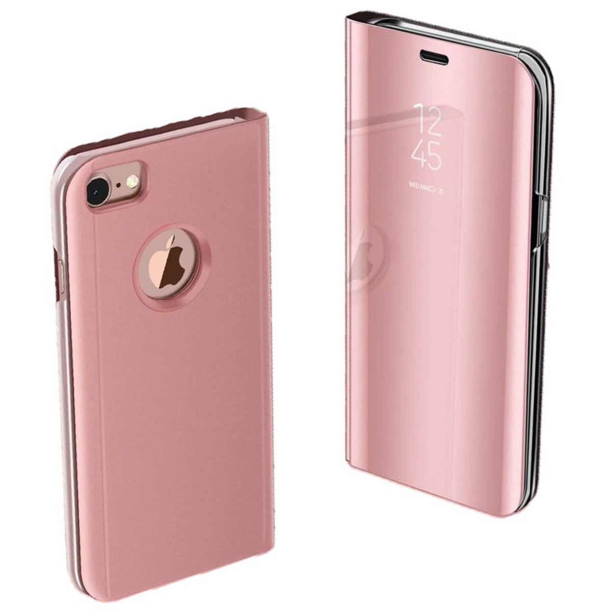 Apple-iPhone-6-6s-7-8-X-Plus-Smart-View-Mirror-Leather-Flip-Stand-Case-Cover thumbnail 16