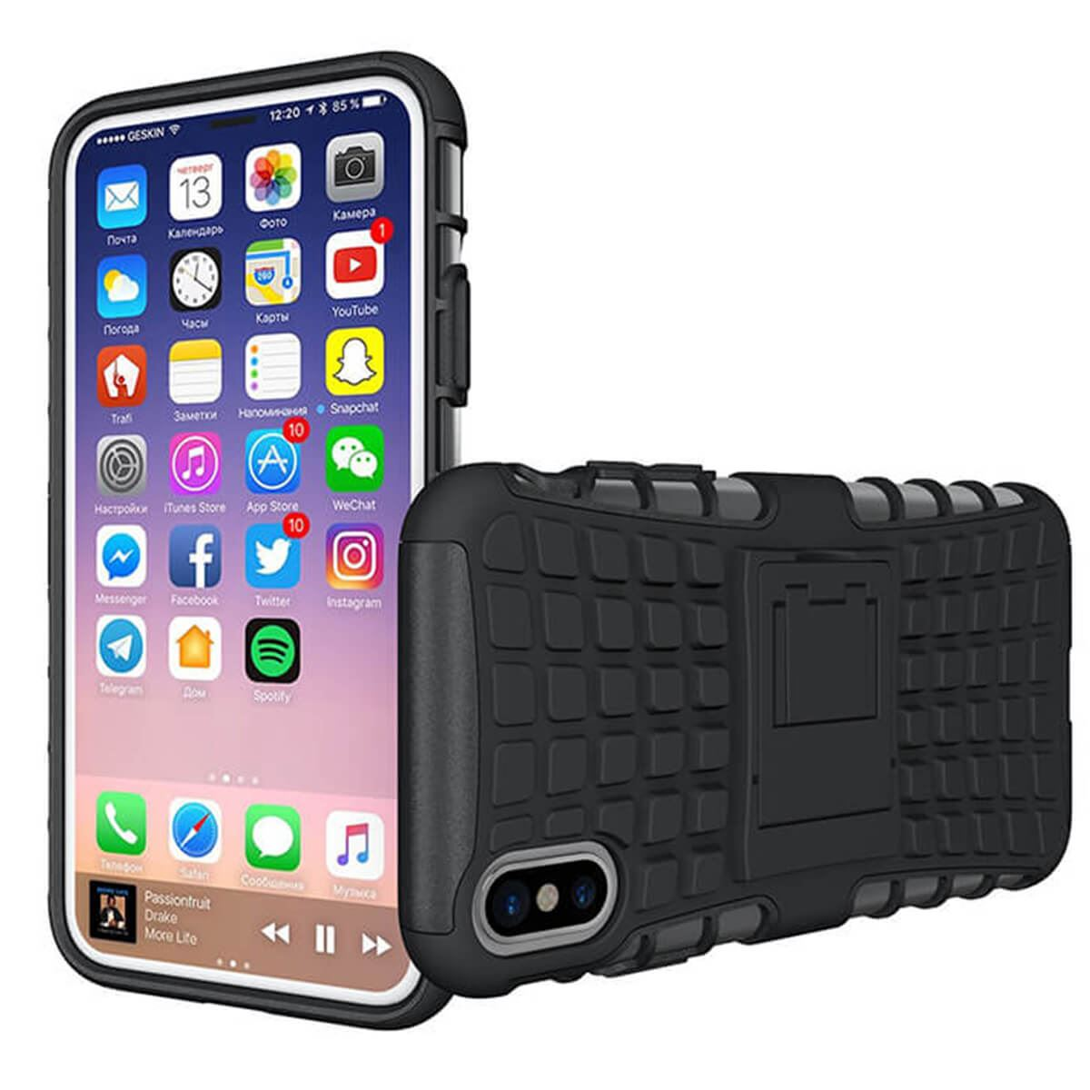 Shockproof-Case-Apple-iPhone-10-X-8-7-6s-Se-5-Hard-Heavy-Duty-Stand-Armour-Cover thumbnail 4