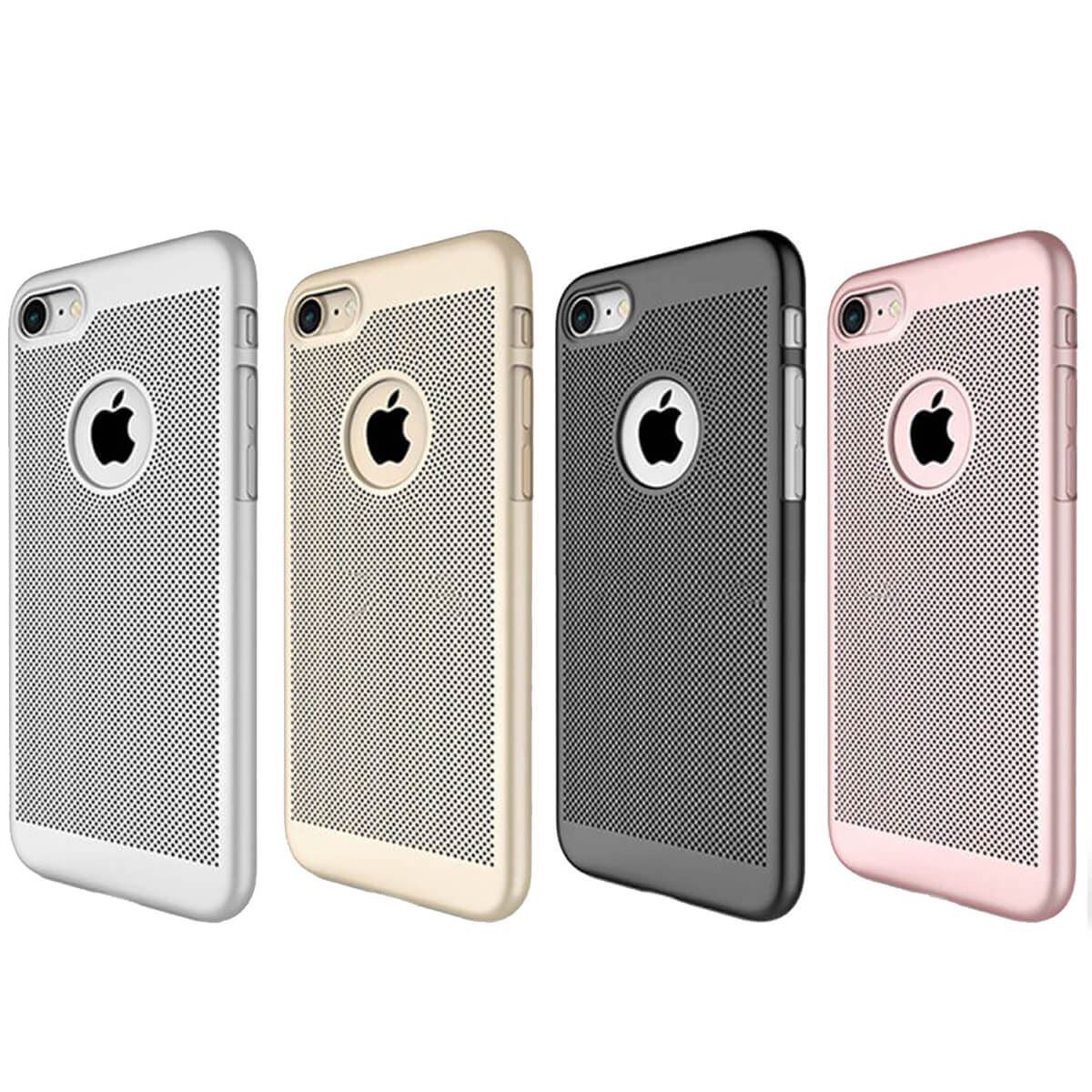 Ultra-Thin-Case-Apple-iPhone-10-X-8-7-6s-5s-Luxury-Slim-PC-Mesh-Hard-Back-Cover thumbnail 5
