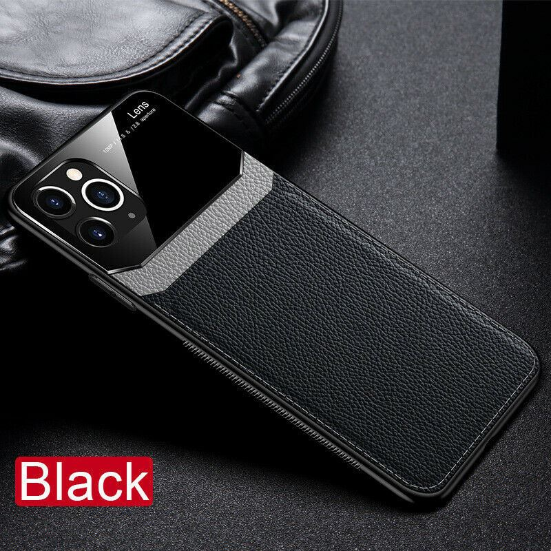 thumbnail 7 - Leather Back Cover Case For Apple iPhone 11 X 8 7 6 Se Protective Lens & Screen
