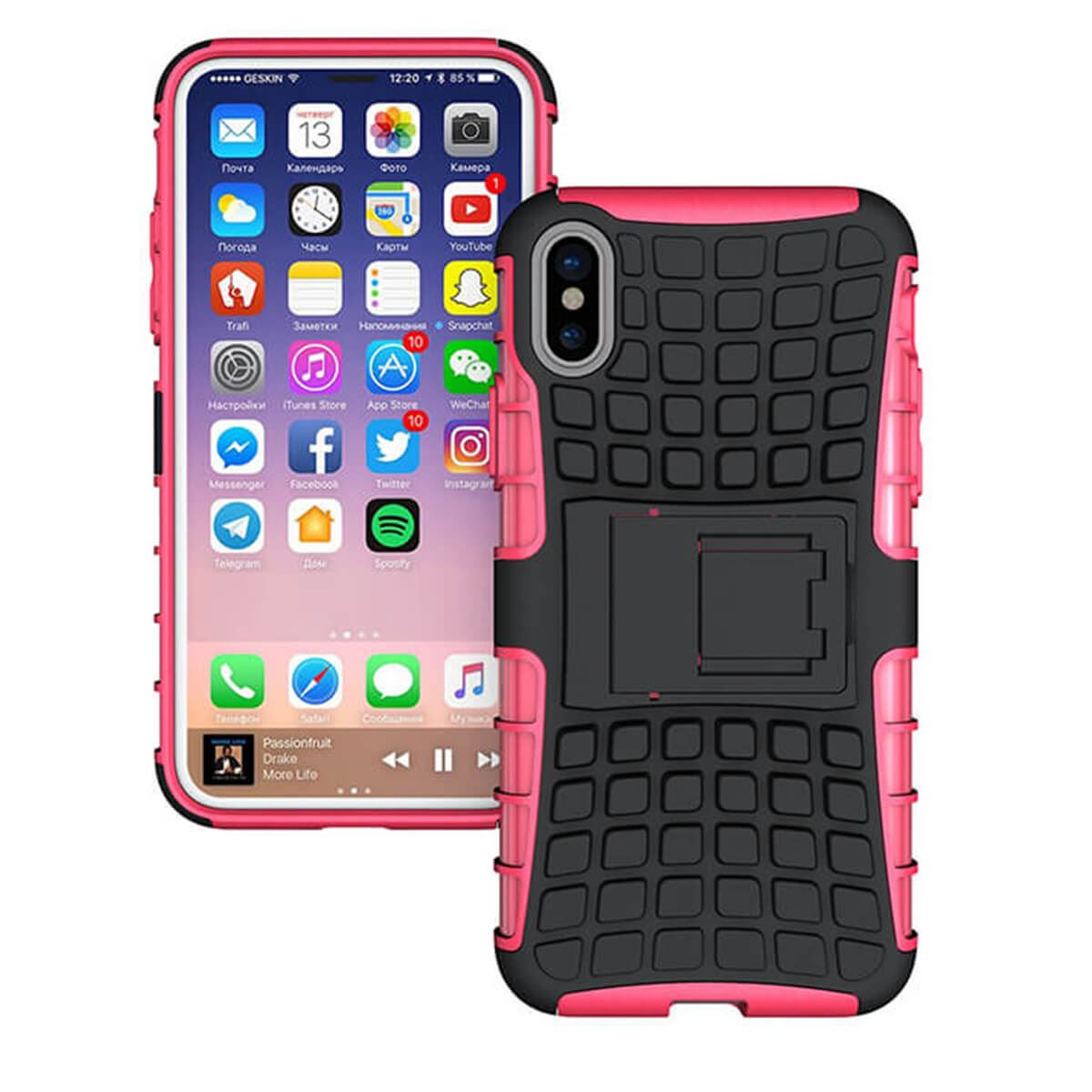 Shockproof-Case-Apple-iPhone-10-X-8-7-6s-Se-5-Hard-Heavy-Duty-Stand-Armour-Cover thumbnail 13