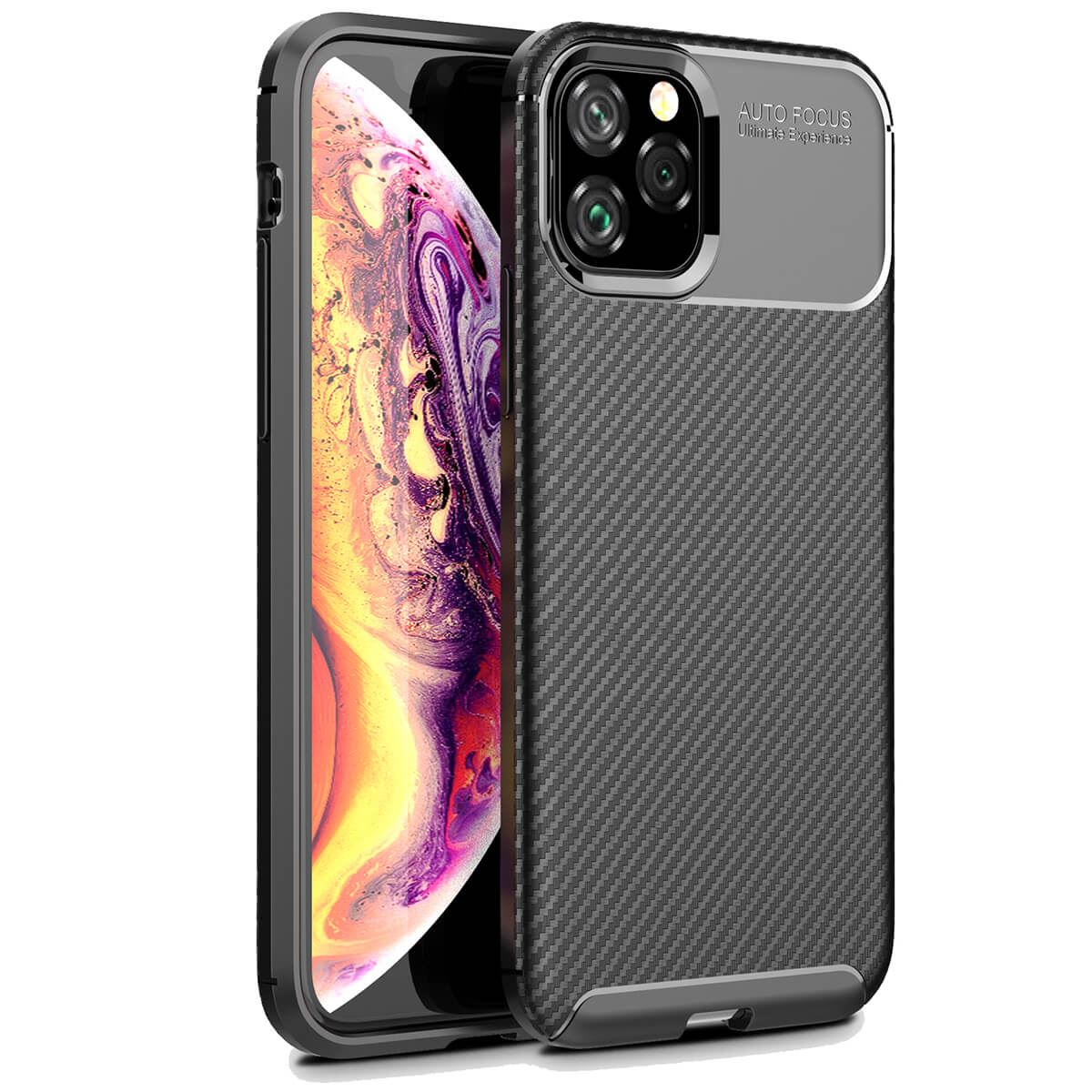 Carbon-Fibre-Soft-Case-For-iPhone-11-X-XR-Max-8-7-6-Plus-Slim-TPU-Silicone-Cover thumbnail 7