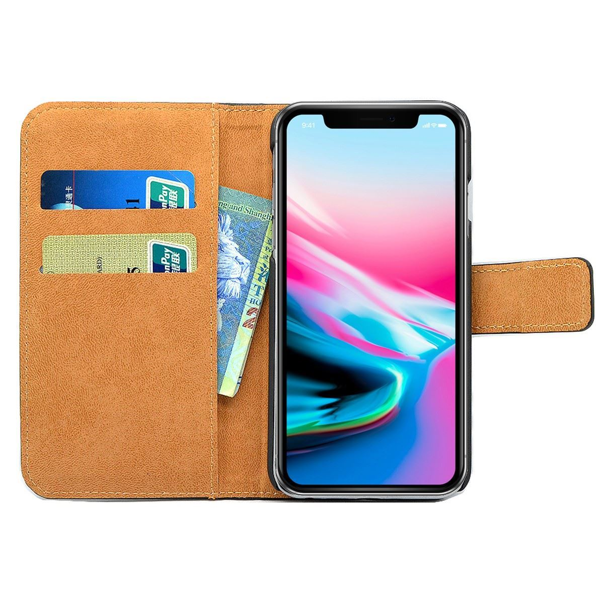 thumbnail 66 - For Apple iPhone 12 11 XR XS Max Leather Flip Wallet Magnetic Stand Card Case